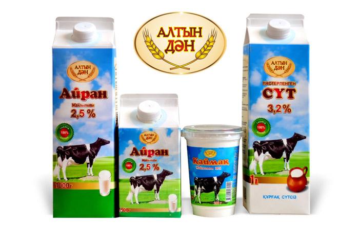 Молочная продукция Алтын Дан